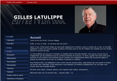 Gilles Latulippe, site officiel